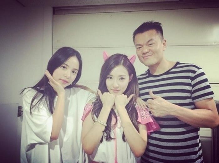 JYP And Min Hyo Rin Support Tiffany At Her Solo Concert