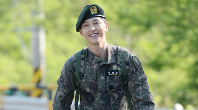 Song Joong Ki Spotted In His Uniform During Reserves Training