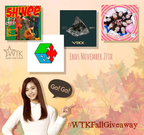 WTK FALL GIVEAWAY: Win Albums By SHINee, EXO-CBX, VIXX, And TWICE!