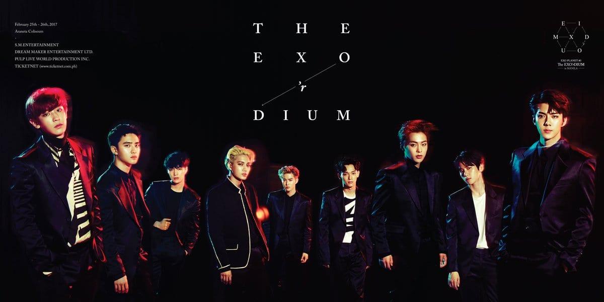 "EXO Confirmed For ""EXO'rDIUM In Manila"" For February 2017"