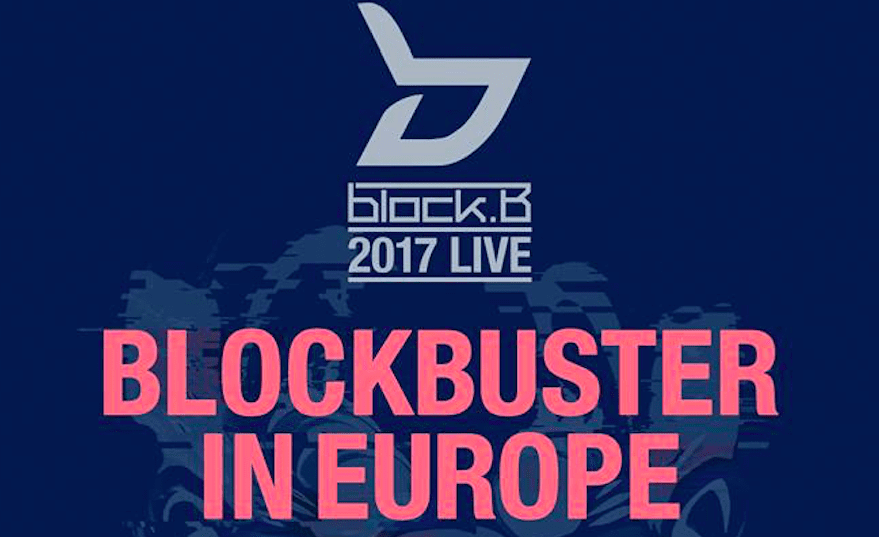 """BLOCK B Announces Tour Dates For """"2017 LIVE BLOCKBUSTER IN EUROPE"""""""