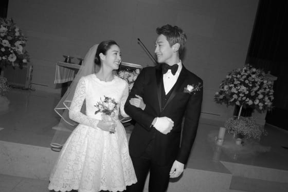Pictures Released Of Rain And Kim Tae Hee's Quiet Wedding