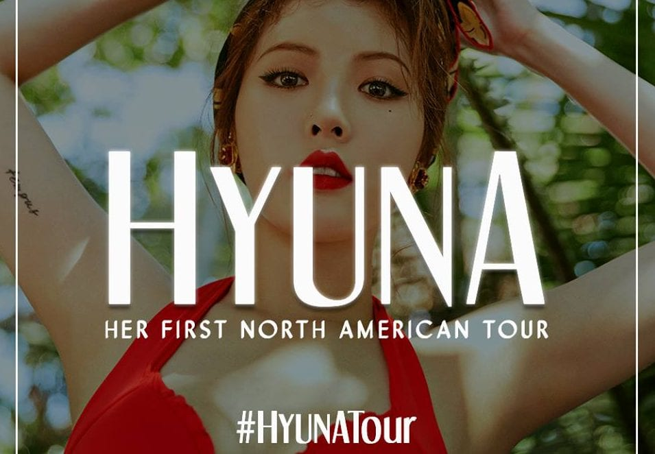 Solo Artist Hyuna Announces 2017 North American Tour