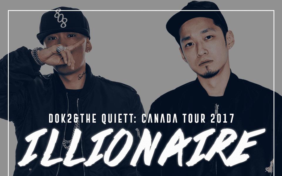 Dok2 And The Quiett Announce 2017 Illionaire Tour In Canada
