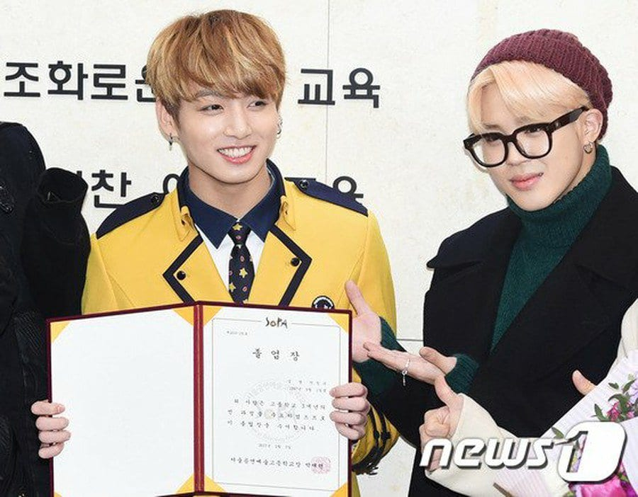 BTS And Fans Attend Jungkook's High School Graduation From SOPA