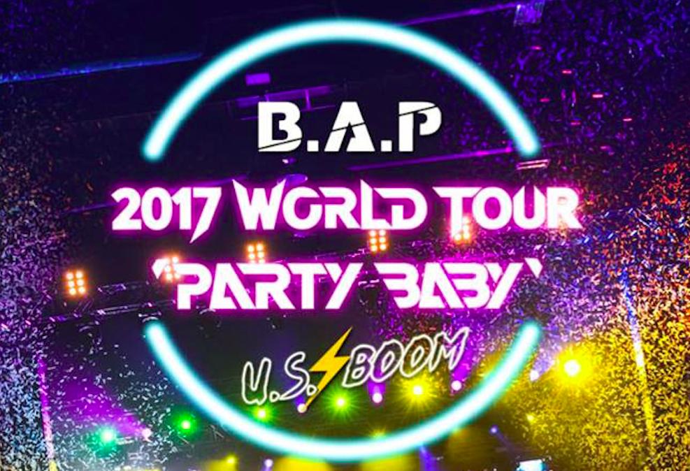 """B.A.P Reveals U.S. Dates For """"B.A.P 2017 WORLD TOUR 'PARTY BABY'"""""""
