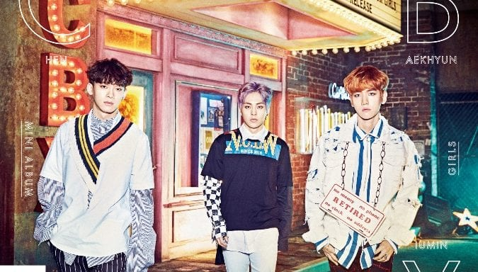 "EXO-CBX Drops Teaser Images For Japanese Debut ""Girls"""