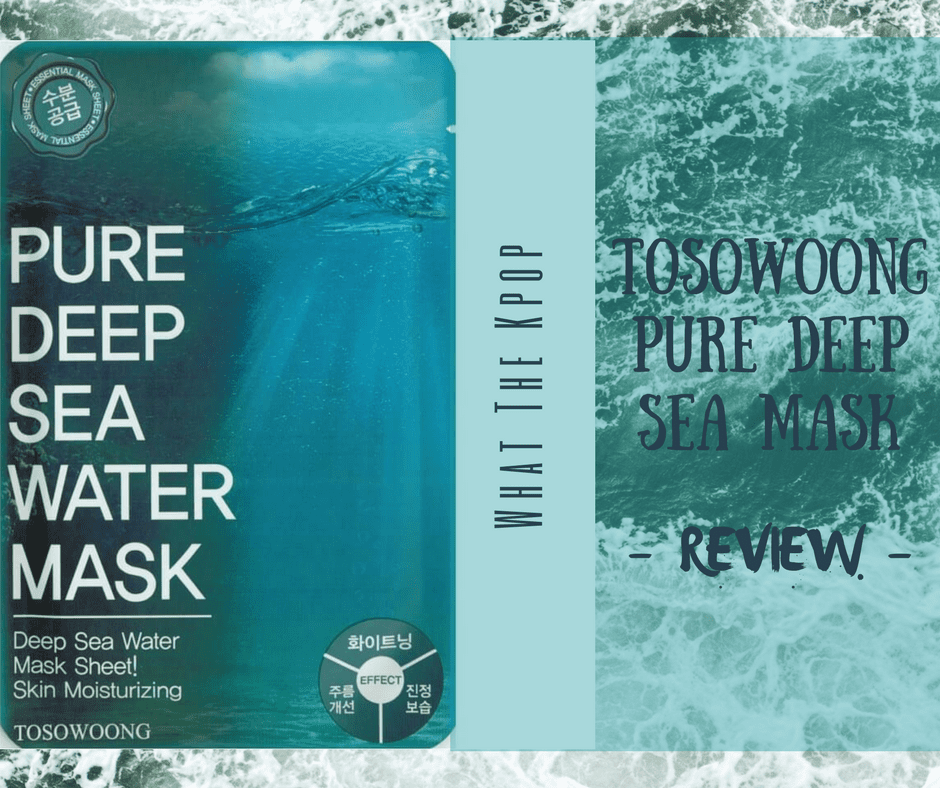 WTK Review: TOSOWOONG Pure Deep Sea Water Mask