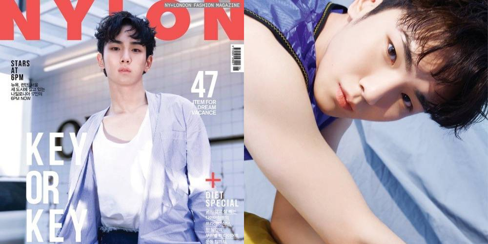 "SHINee's Key Looks Flawless On Cover Of ""NYLON"""