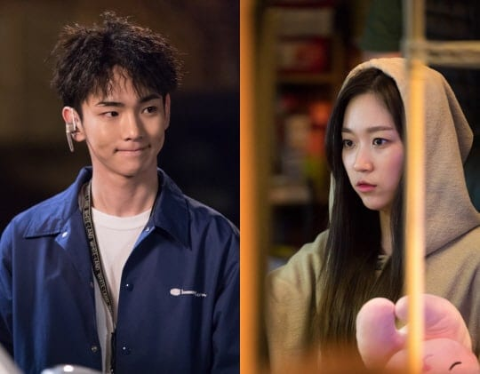 """New Stills Released Of SHINee's Key And Kim Seul Gi On """"Lookout"""" Set"""