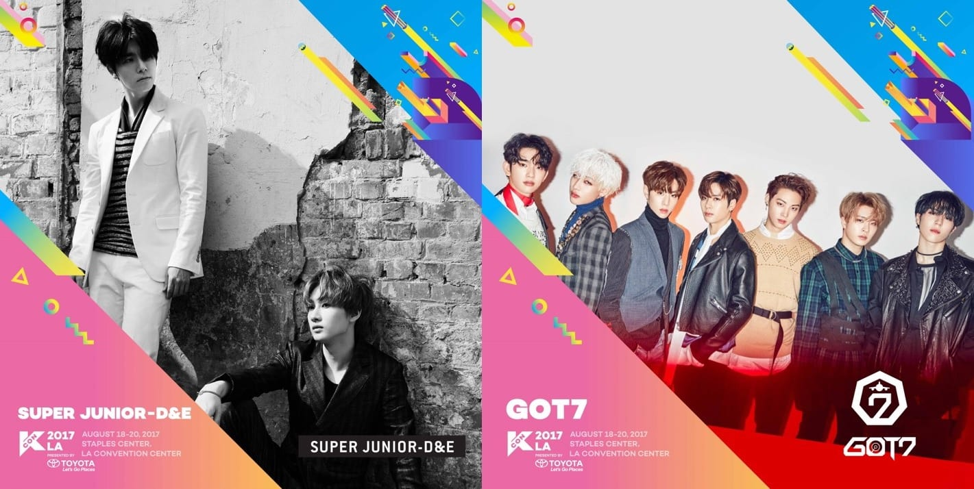 KCON LA Announces Super Junior-D&E And GOT7 As Final Artists On Lineup