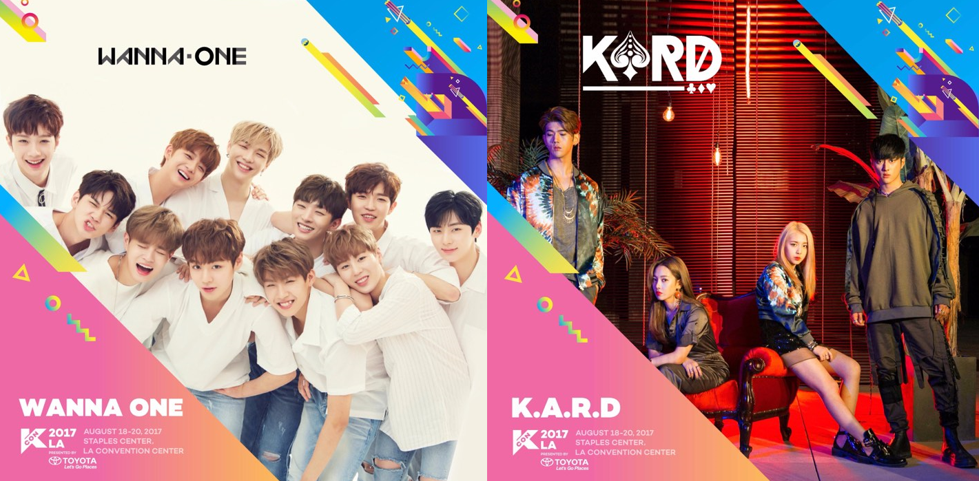 WANNA ONE And K.A.R.D Confirmed For KCON LA 2017