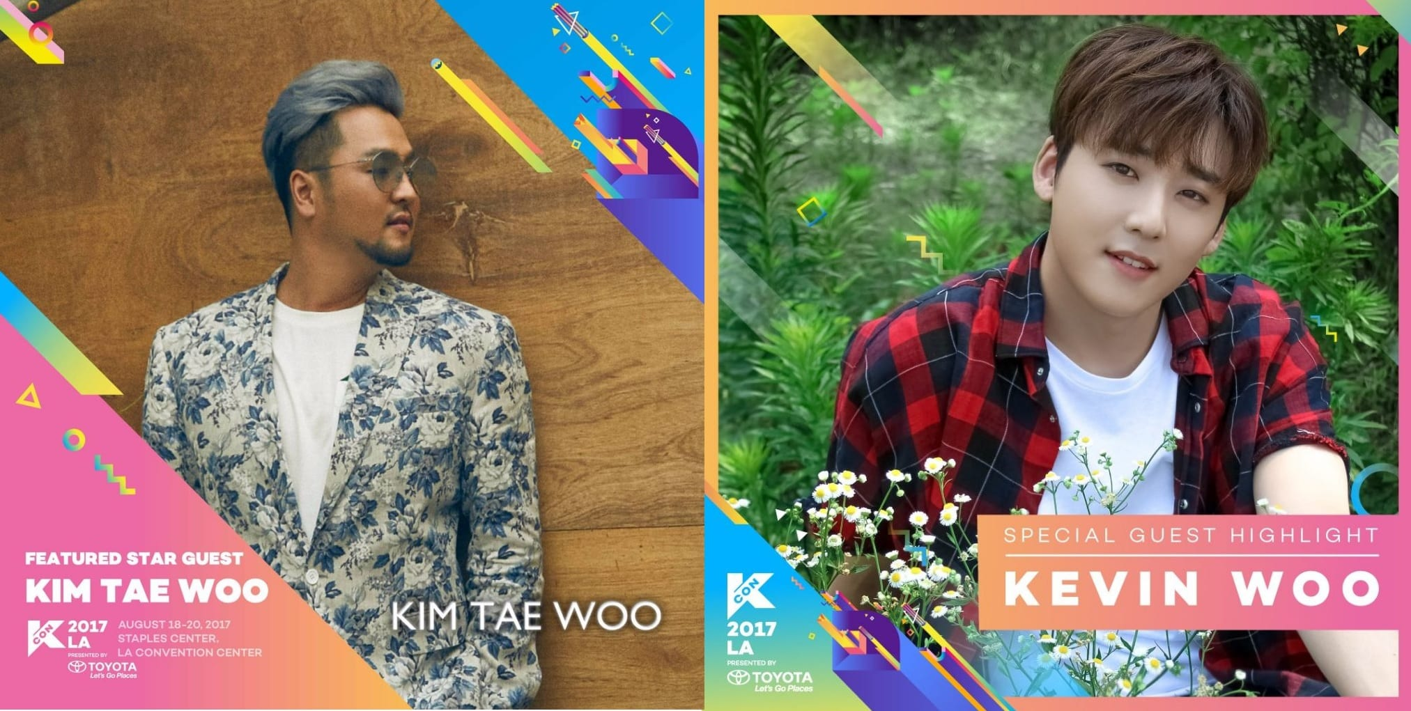 KCON LA Announces Kim Tae Woo, Kevin Woo, And Sam Okyere As Special Guests