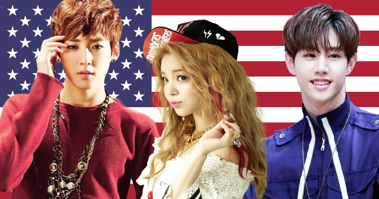 Red White Blue 17 K Pop Idols Who Were Born In The Usa What