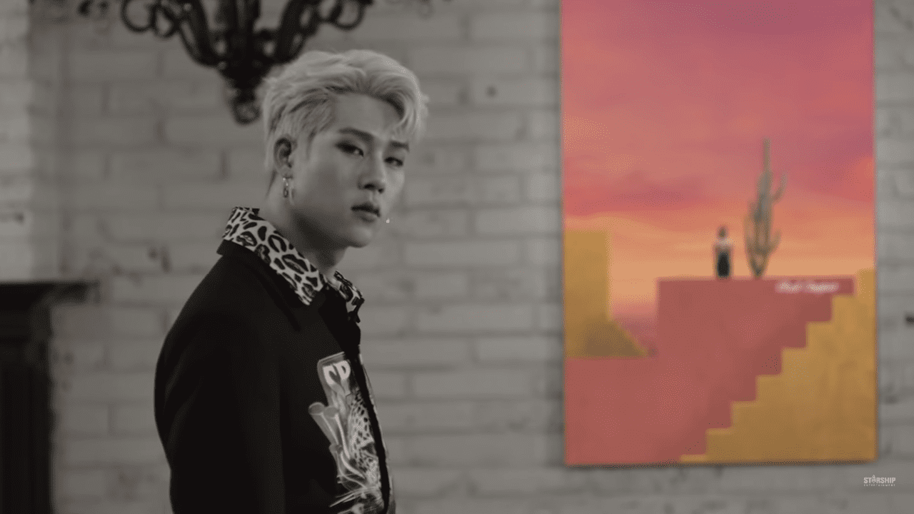 "WATCH: MONSTA X's Jooheon Is Playfully Glamorous In Mixtape MV ""Red Carpet"""