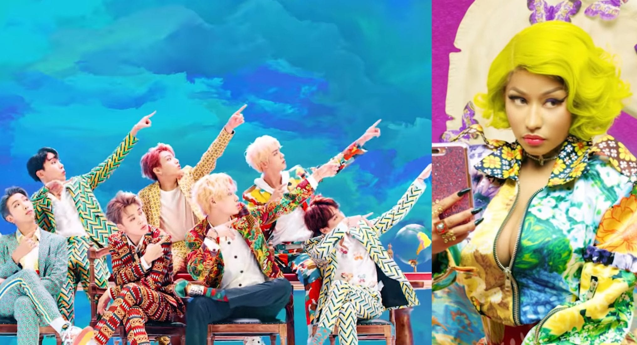 "WATCH: Nicki Minaj Makes Appearance In New Version Of BTS's ""IDOL"" MV"