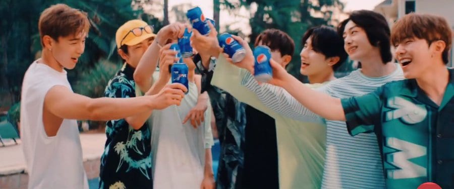 """WATCH: MONSTA X Releases Special Version Of Pepsi's """"For The Love Of It"""" In Refreshing Summer MV"""