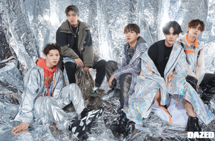 AB6IX Shines In Chic Streetwear For Group Photoshoot In DAZED Magazine